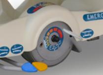 Transportliege I-Care EZ-GO motorisierts 5tes Rad
